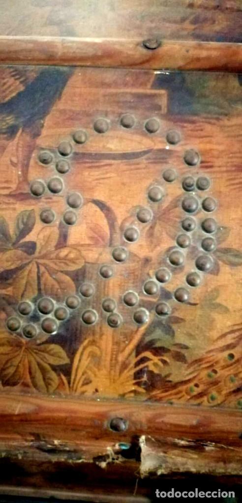 Antigüedades: Baúl Antiguo con soporte. - Foto 3 - 163972030