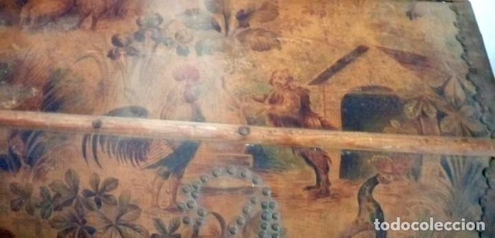 Antigüedades: Baúl Antiguo con soporte. - Foto 4 - 163972030