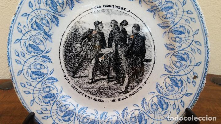 Antigüedades: MUY ESCASO Y ANTIGUO PLATO DE PORCELANA J. VIEILLARD, LA TERRITORIALE, BORDEAUX, (1845-1895) - Foto 3 - 164613578
