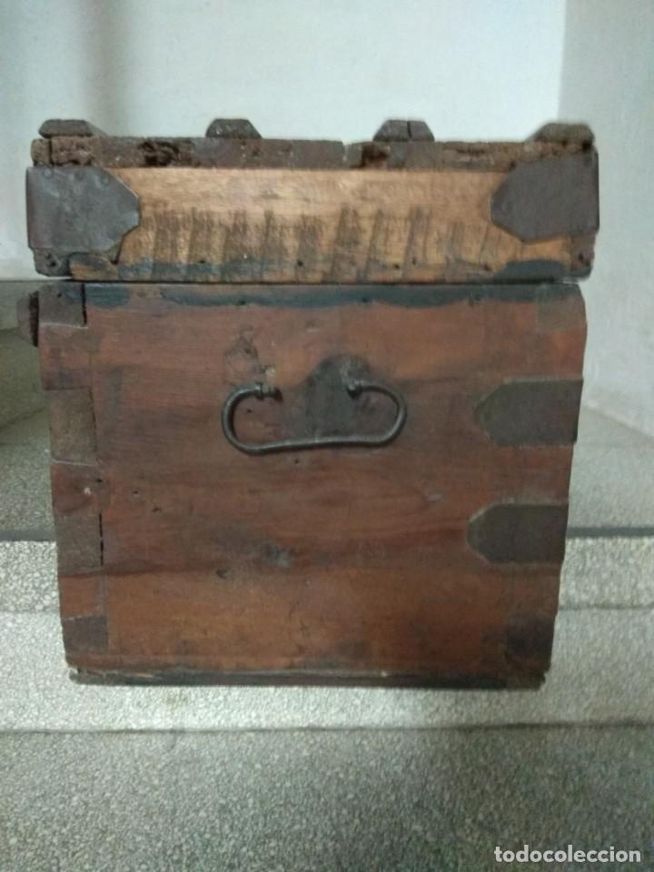 Antigüedades: ARCON. BAUL. DE MADERA. MUY ANTIGUO. DECORACION. RUSTICO. VER FOTOS - Foto 5 - 164633346