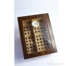 Antigüedades - Antigua caja de madera para tabaco - 164638274