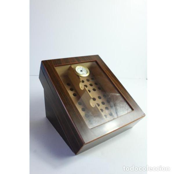 Antigüedades: Antigua caja de madera para tabaco - Foto 2 - 164638274