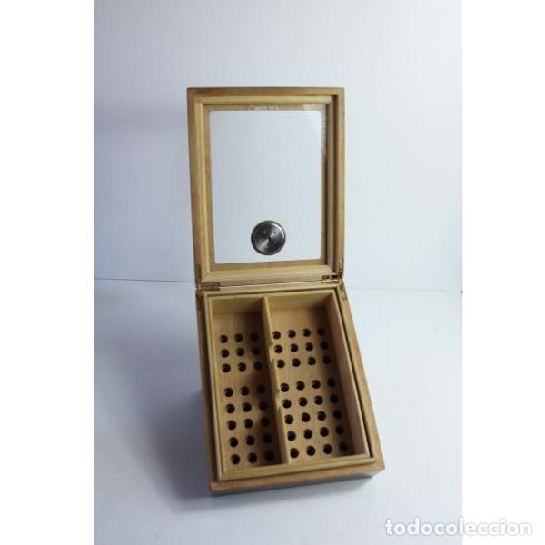 Antigüedades: Antigua caja de madera para tabaco - Foto 4 - 164638274