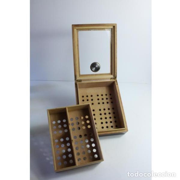 Antigüedades: Antigua caja de madera para tabaco - Foto 5 - 164638274