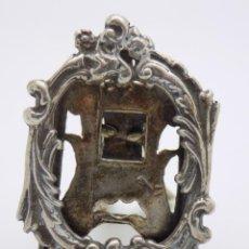 Antigüedades: PRECIOSO Y ANTIGÜO MARCO MINIATURA EN PLATA DE LEY 800/1000 MM CONTRASTES ORFEBRERIA A MANO . Lote 164640802