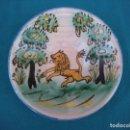 Antigüedades: PLATO TALAVERA CON LEÓN. Lote 164645498