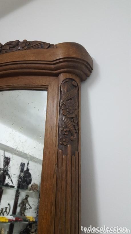 Antigüedades: Gran espejo Art Nouveau. - Foto 5 - 164650742