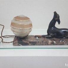 Antigüedades: LÁMPARA DE MESA ART DECÓ.. Lote 164660082