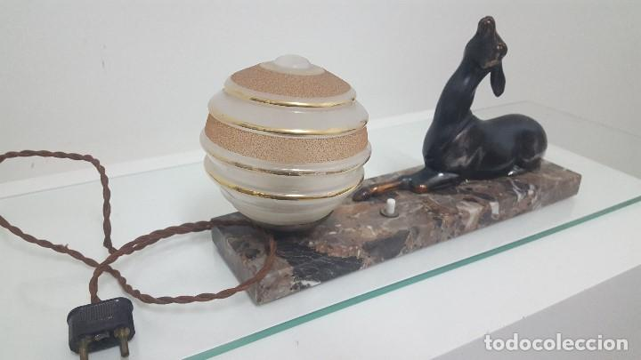 Antigüedades: Lámpara de mesa Art Decó. - Foto 2 - 164660082