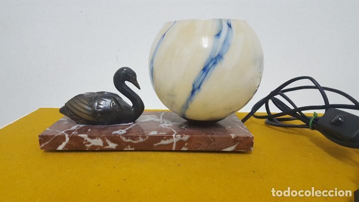 Antigüedades: Lámpara de mesa Art Decó. - Foto 2 - 164670366