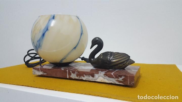 Antigüedades: Lámpara de mesa Art Decó. - Foto 4 - 164670366