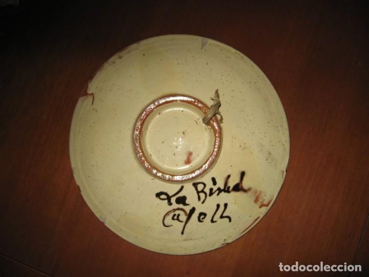 Antigüedades: plato antiguo decorativo de la Bisbal, firmado CAFELL - Foto 3 - 164682958