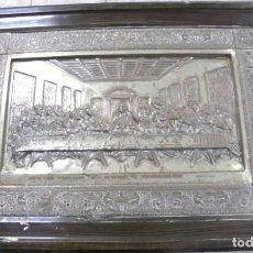 Antigüedades: ANTIGUA CUADRO EN RELIEVE. SANTA CENA DE LEONARDO DA VINCI. 100 X 72CM. VER FOTOS. ENMARCADO. Lote 164686258