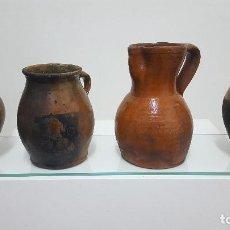 Antigüedades: PUCHEROS Y JARRA ANTIGUOS.. Lote 164692266