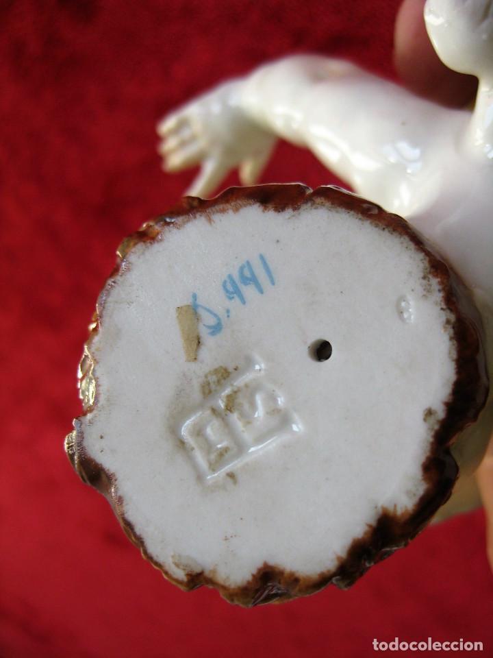 Antigüedades: QUERUBIN - ANGEL DE PORCELANA DE ALGORA SELLADO Y NUMERADO - PERFECTO ESTADO - - Foto 8 - 164694538