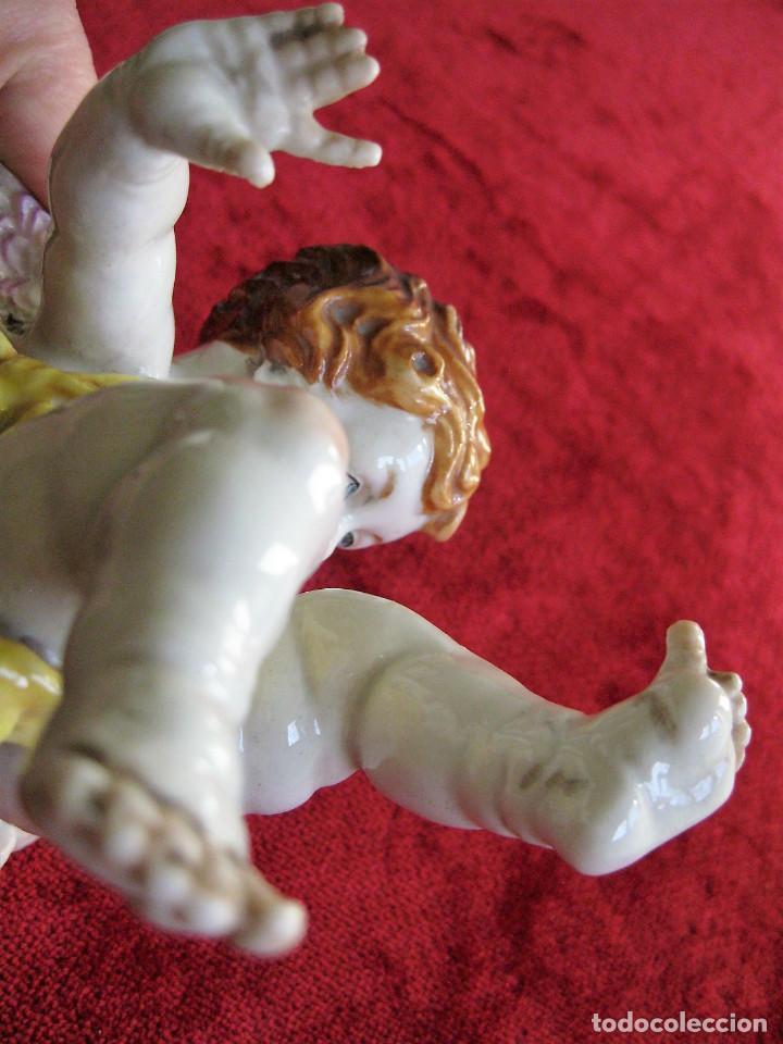 Antigüedades: QUERUBIN - ANGEL DE PORCELANA DE ALGORA SELLADO Y NUMERADO - PERFECTO ESTADO - - Foto 11 - 164694538