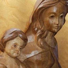 Antigüedades: VIRGEN CON NIÑO ( TALLA MADERA). Lote 164702014