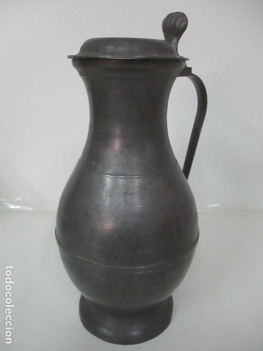 GRAN JARRA DE VINO - JARRA, PELTRE Y ESTAÑO - 36 CM ALTURA - PRINCIPIOS S. XX (Antigüedades - Técnicas - Rústicas - Utensilios del Hogar)