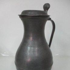 Antigüedades: GRAN JARRA DE VINO - JARRA, PELTRE Y ESTAÑO - 36 CM ALTURA - PRINCIPIOS S. XX. Lote 164706490