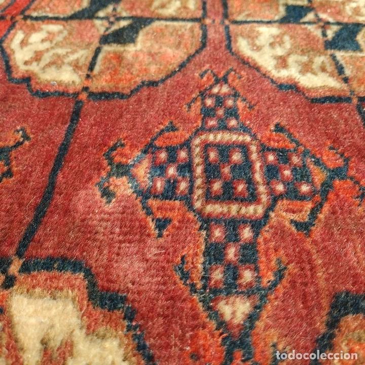 Antigüedades: ALFOMBRA TEKKE. LANA ANUDADA A MANO. TEKKE. TURKMENISTAN. SIGLO XIX-XX - Foto 6 - 164711126