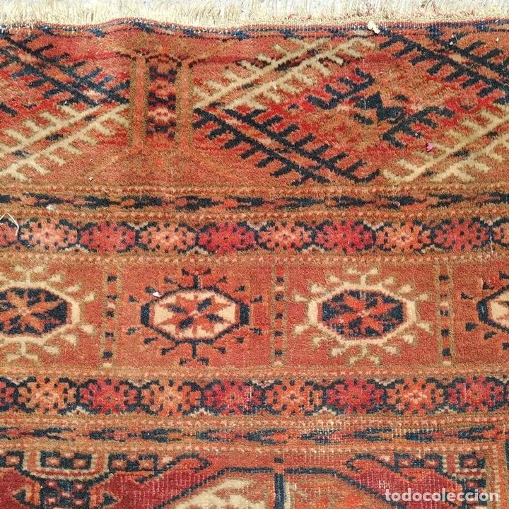 Antigüedades: ALFOMBRA TEKKE. LANA ANUDADA A MANO. TEKKE. TURKMENISTAN. SIGLO XIX-XX - Foto 7 - 164711126