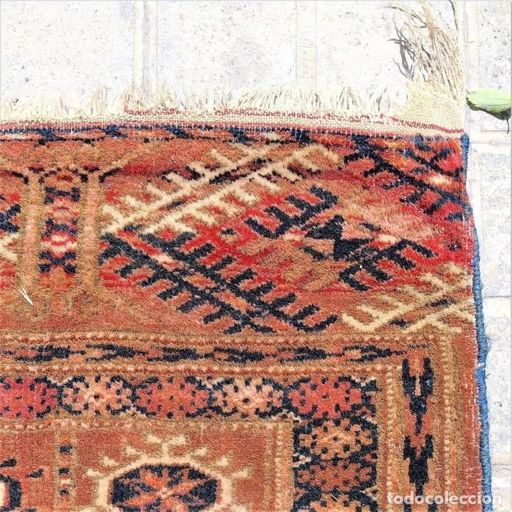 Antigüedades: ALFOMBRA TEKKE. LANA ANUDADA A MANO. TEKKE. TURKMENISTAN. SIGLO XIX-XX - Foto 8 - 164711126