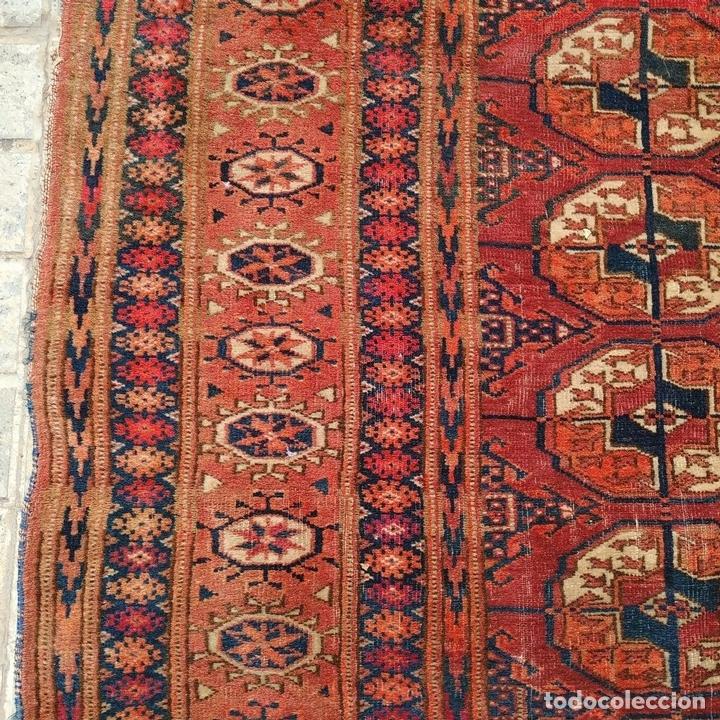 Antigüedades: ALFOMBRA TEKKE. LANA ANUDADA A MANO. TEKKE. TURKMENISTAN. SIGLO XIX-XX - Foto 11 - 164711126