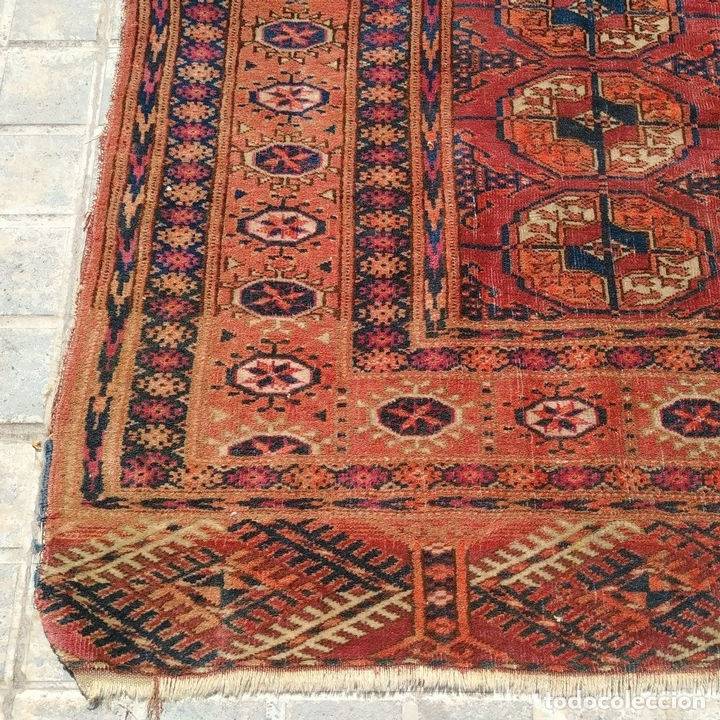 Antigüedades: ALFOMBRA TEKKE. LANA ANUDADA A MANO. TEKKE. TURKMENISTAN. SIGLO XIX-XX - Foto 12 - 164711126