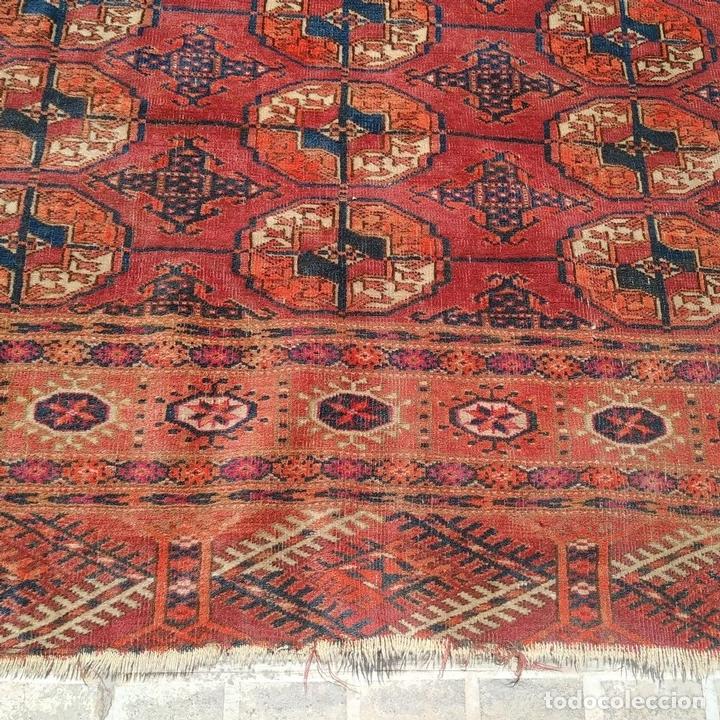 Antigüedades: ALFOMBRA TEKKE. LANA ANUDADA A MANO. TEKKE. TURKMENISTAN. SIGLO XIX-XX - Foto 13 - 164711126