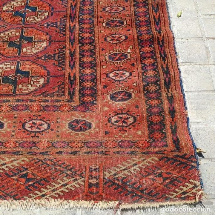Antigüedades: ALFOMBRA TEKKE. LANA ANUDADA A MANO. TEKKE. TURKMENISTAN. SIGLO XIX-XX - Foto 14 - 164711126