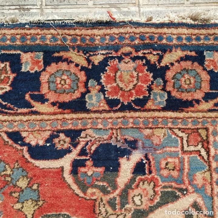 Antigüedades: ALFOMBRA ORIENTAL. LANA ANUDADA A MANO. ORIENTE MEDIO. PRINCIPIO SIGLO XX - Foto 9 - 164714958