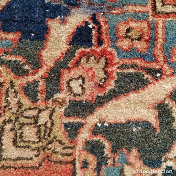 Antigüedades: ALFOMBRA ORIENTAL. LANA ANUDADA A MANO. ORIENTE MEDIO. PRINCIPIO SIGLO XX - Foto 13 - 164714958