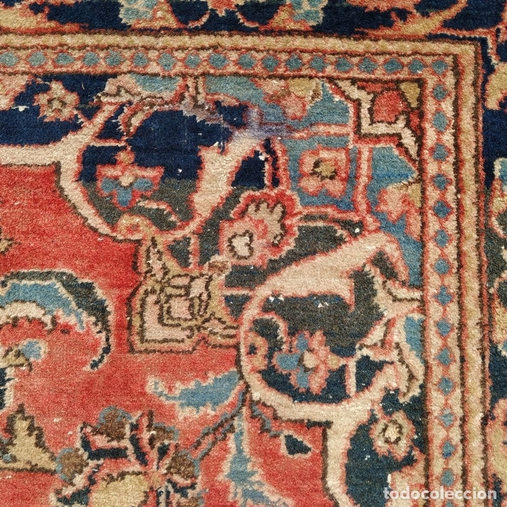 Antigüedades: ALFOMBRA ORIENTAL. LANA ANUDADA A MANO. ORIENTE MEDIO. PRINCIPIO SIGLO XX - Foto 14 - 164714958