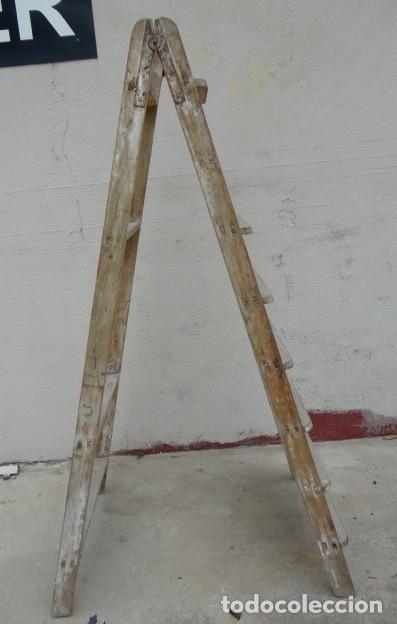Antigüedades: Escalera antigua alta - Foto 3 - 164719858
