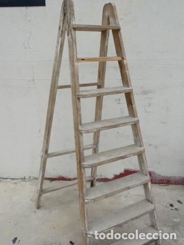 Antigüedades: Escalera antigua alta - Foto 4 - 164719858