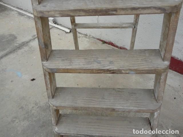 Antigüedades: Escalera antigua alta - Foto 5 - 164719858