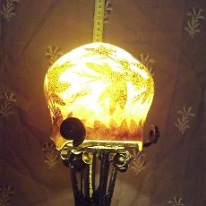 Antigüedades: LAMPARA SOBRE MESA, ART NOUVEAU, TULIPA GALLE. Lote 164724066
