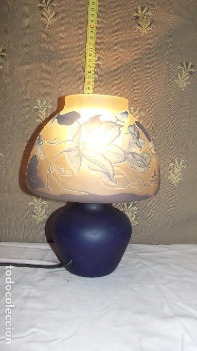 Antigüedades: LAMPARA SOBRE MESA, ART NOUVEAU - Foto 4 - 164725422