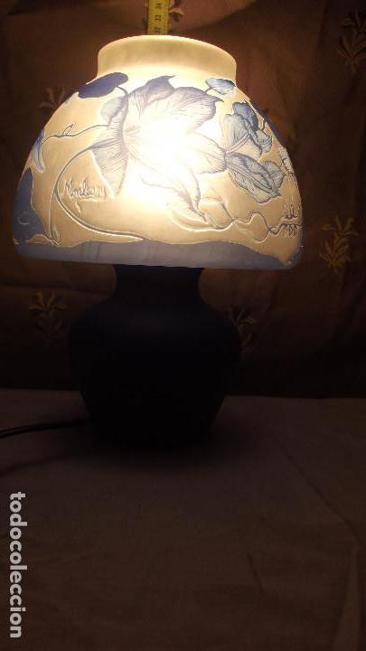 LAMPARA SOBRE MESA, ART NOUVEAU (Antigüedades - Iluminación - Lámparas Antiguas)