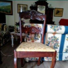 Antigüedades: SILLA MADERA TALLADA. Lote 164725680
