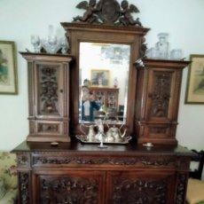 Antigüedades: APARADOR MADERA TALLADA. Lote 164726716