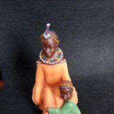 Antigüedades: FIGURA PERSONAJES AFRICANOS EN RESINA. Lote 164731410