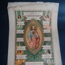 Antigüedades: ANTIGUA LÁMINA , PRIMERA COMUNIÓN PRINCIPIO SIGLO XX, VER FOTOS. Lote 164737414