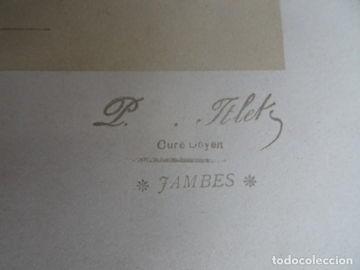 Antigüedades: ANTIGUA LÁMINA , PRIMERA COMUNIÓN PRINCIPIO SIGLO XX, VER FOTOS - Foto 3 - 164738510