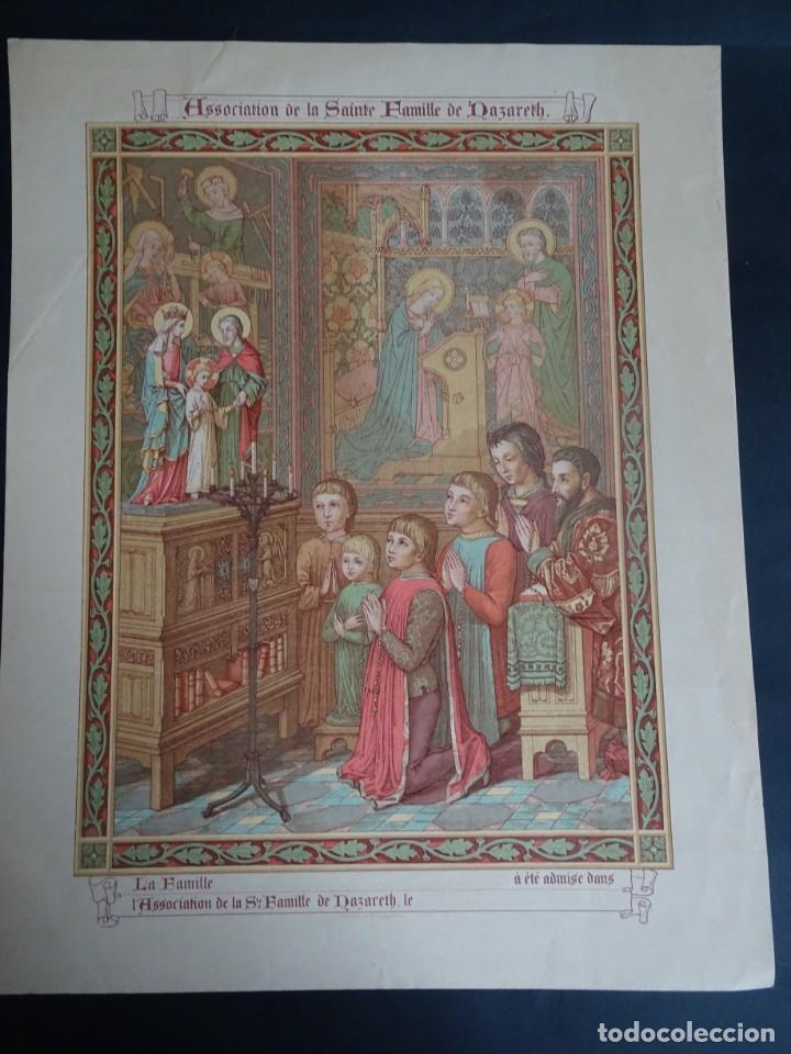 ANTIGUA LÁMINA , PRINCIPIO SIGLO XX, VER FOTOS (Antigüedades - Religiosas - Varios)