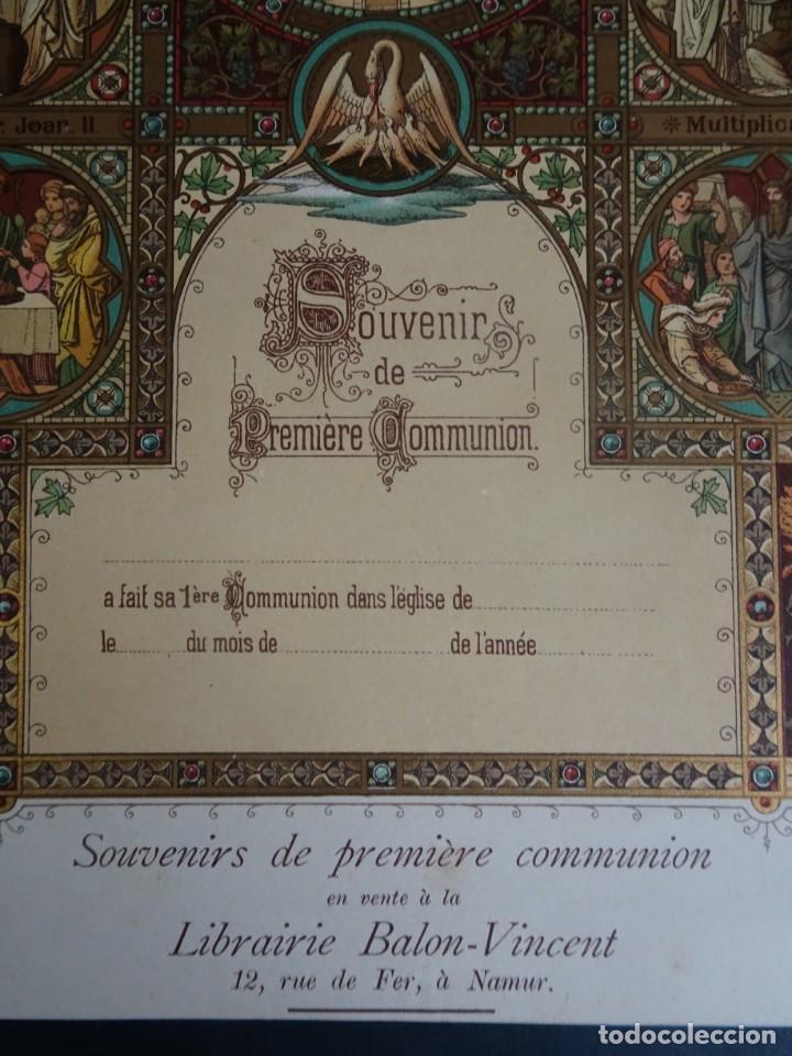 Antigüedades: ANTIGUA LÁMINA , PRIMERA COMUNIÓN PRINCIPIO SIGLO XX, VER FOTOS - Foto 3 - 164740882