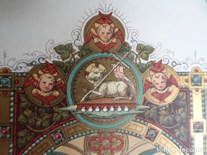 Antigüedades: ANTIGUA LÁMINA , PRIMERA COMUNIÓN PRINCIPIO SIGLO XX, VER FOTOS - Foto 6 - 164740882