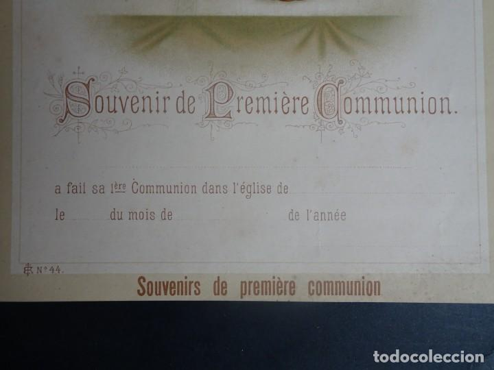 Antigüedades: ANTIGUA LÁMINA , PRIMERA COMUNIÓN PRINCIPIO SIGLO XX, VER FOTOS - Foto 5 - 164742914
