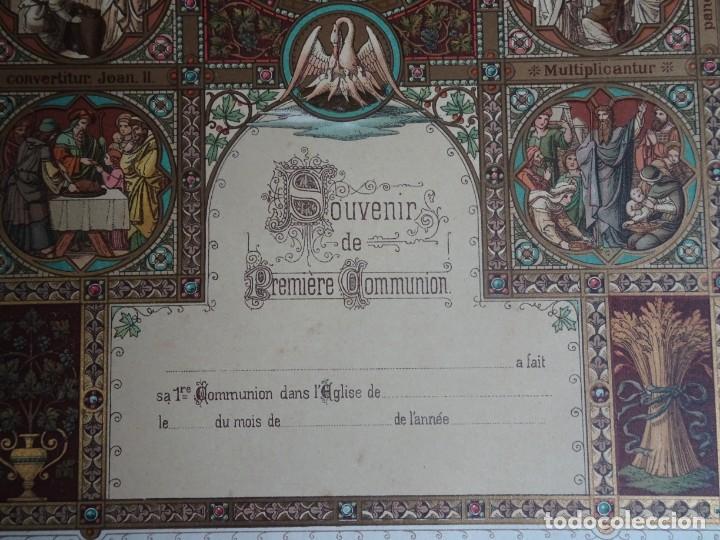 Antigüedades: ANTIGUA LÁMINA , PRIMERA COMUNIÓN PRINCIPIO SIGLO XX, VER FOTOS - Foto 3 - 164743130