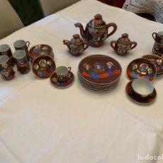 Antigüedades: JUEGO TÉ, CAFÉ Y POSTRE PORCELANA JAPÓN ANTIGUA. Lote 164746054